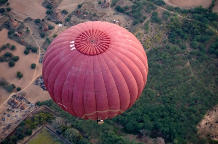 Myanmar Bagan Heißluftballon