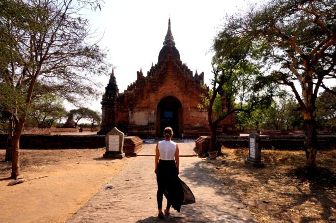 Myanmar Bagan ich vor einer Pagode