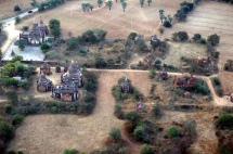 Myanmar Bagan Pagoden von oben