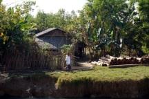Myanmar Fähre von Sittwe nach Mrauk U Dörfer