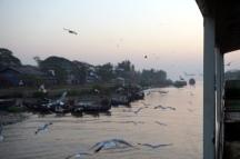 Myanmar Fähre von Sittwe nach Mrauk U Sonnenaufgang