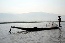 Myanmar Inle See Fischer mit Korb