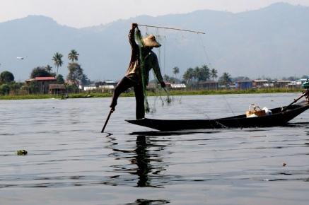 Myanmar Inle See Fischer