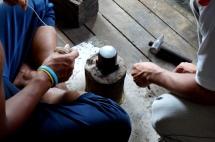 Myanmar Inle See Silberherstellung