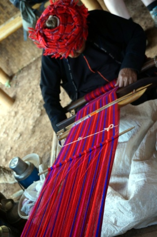 Myanmar Kalaw Trekking Stopp in einem Dorf