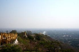 Myanmar Mandalay Blick von Mandalay Hill