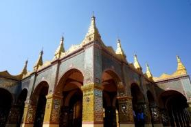 Myanmar Mandalay oben auf Mandalay Hill