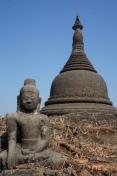 Myanmar Mrauk U Kothaung Tempel oben