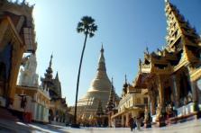 Myanmar Shwedagon Pagode mit Fischauge
