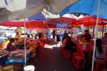 Myanmar Yangon Straßenmarkt