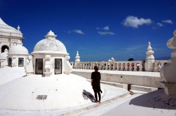 Nicaragua: Leon auf der Kathedrale