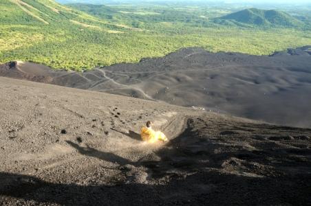 Nicaragua: Leon auf dem Cerro Negro Vulkan Boarding