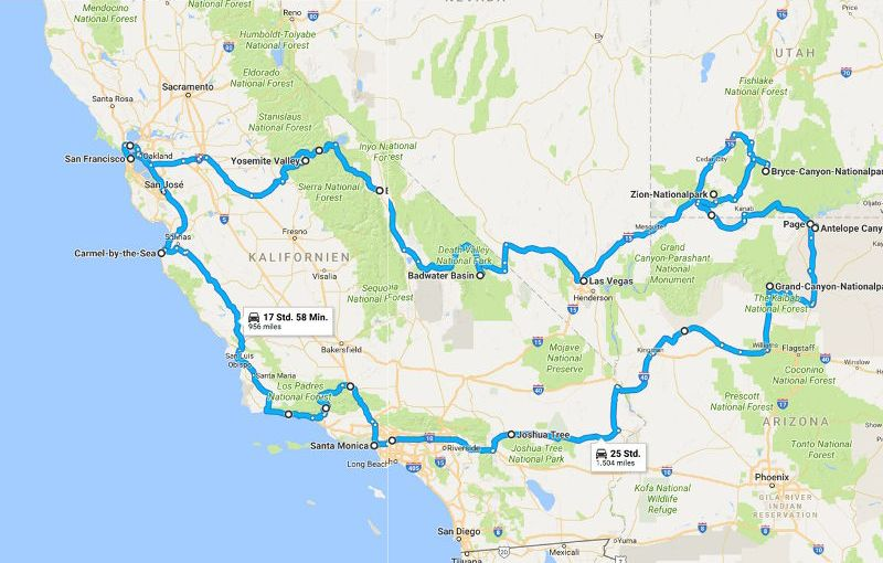 USA Westküste – Roadtrip
