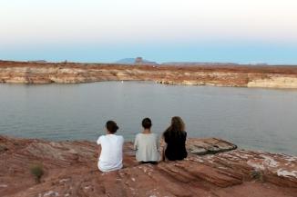 USA_Antelope Island wir drei