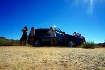 USA: Wir mit unserem Auto im Joshua Tree Nationalpark