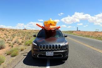 USA: Kayaks montiert auf unserem Auto