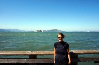 USA: San Francisco Pier Alcatraz im Hintergrund