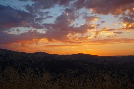USA: Sonnenaufgang Blick aus unserem Zelt