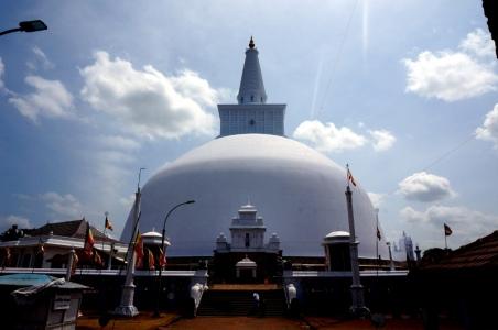 Sri Lanka Anuradhapura weiße Stupa