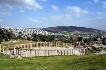 Jerash Blick auf die Ruinen