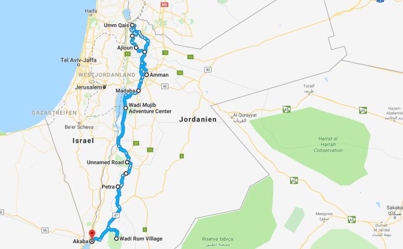 Jordanien – Route undInfos