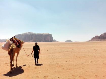 Unterwegs mit den Kamelen