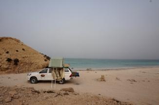 Campen direkt am Meer