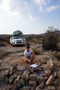 Grillen auf dem Jabal Akhdar