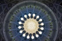 Muscat Große Moschee Decke