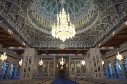 Muscat Große Moschee Gebetsraum Männer